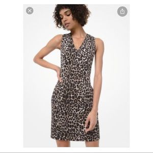MICHAEL Michael Kors Lepard Print Dress MF98Z53CJF